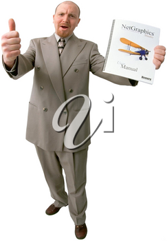 Royalty Free Photo of a Happy Businessman