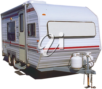 Royalty Free Photo of a Camper Tailer