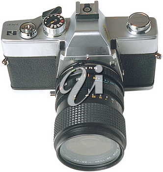 Royalty Free Photo of a Camera with a Wide Angle Lens