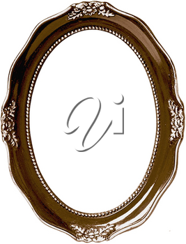 Royalty Free Photo of a Bronze Picture Frame