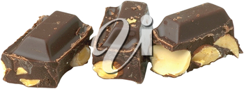 Royalty Free Photo of a Pieces of a Chocolate Bar