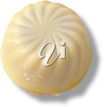 Royalty Free Photo of a Single White Chocolate Candy
