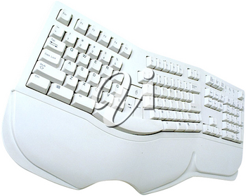 Royalty Free Photo of a White Keyboard