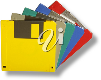Royalty Free Photo of Computer Floppy Disks