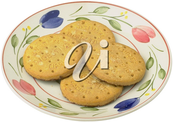 Royalty Free Photo of a Plate of Cookies