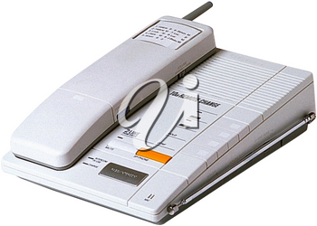 Royalty Free Photo of a Cordless Phone on the Base