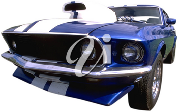 Royalty Free Photo of a Vintage Race Car