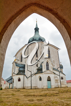 Church of St. John of Nepomuk on Zelena Hora (UNESCO monument). It was built in baroque gothic style and was designed by architect Jan Blazej Santini-Aichel. It is placed near Zdar nad Sazavou town at Moravia in Czech Republic.
