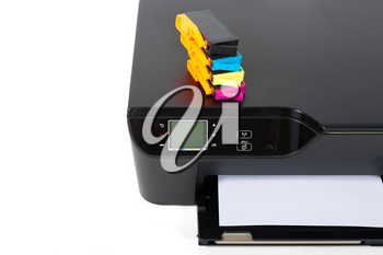 Printer, scanner, copier  isolated on white background