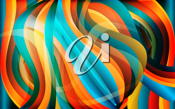 Vector abstract waves background texture design, bright poster, banner colorful striped background