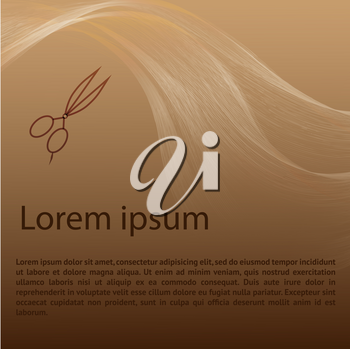 Hair studio abstract background template. Can be used for websites, brochures, flyers etc.