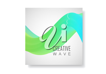 Vector wave abstract background. Design brochure template.