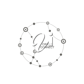 Vector abstract technology background with connect circle and dot.