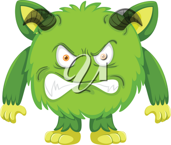 A green monster character illustration