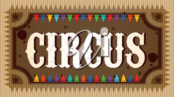 A Fancy Wooden Circus Sign illustration