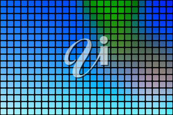 Blue green red vector abstract mosaic background with rounded corners square tiles over black