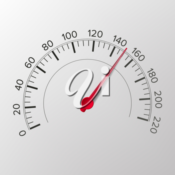 Speedometer Vector. Abstract Car Panel Console Gauge Tachometer Illustration