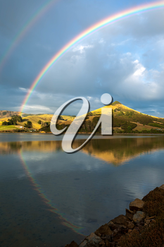 Double Rainbow over the Otago Peninsula