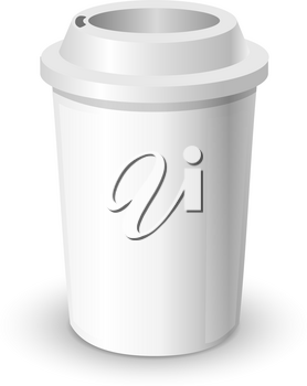 Coffee cup realistic mock up isolated on white