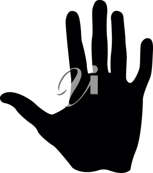 Human hand it is black color icon .