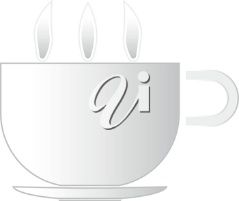 Cup with hot tea or coffee  it is icon . Flat style .