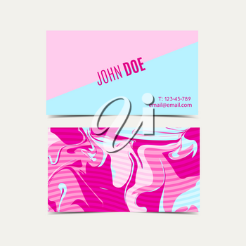 Pink business cards with a shabby chic design and glitch.