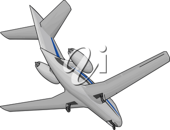 The broad spectrum of uses for airplanes includes recreation transportation of goods and people military and research vector color drawing or illustration