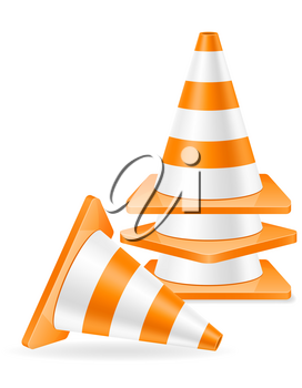 plastic traffic cone to limit traffic transport stock vector illustration isolated on white background